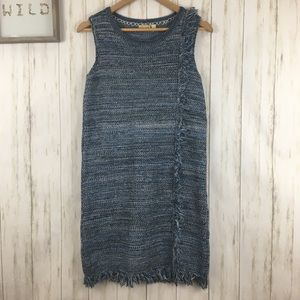 Anthropologie Holding Horses Fringe Knit Dress XS